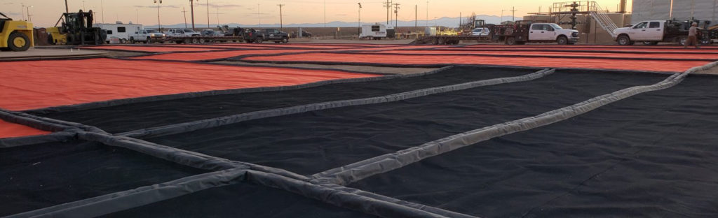 Industrial Spill Containment on Lease Site